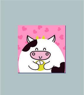 可爱卡通小牛