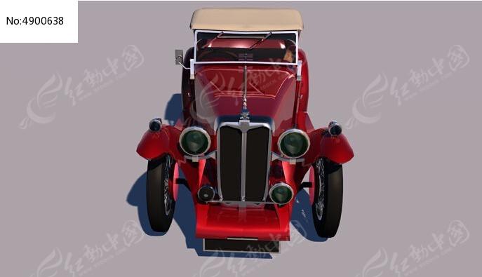 MG TC汽车C4D模型图片