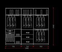 2.8米宽衣柜内部设计图纸