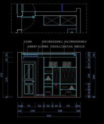 现代卧室衣柜内部尺寸设计图