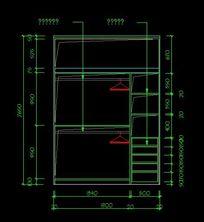 衣柜内部结构施工图纸
