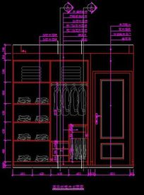 别墅客户墙面衣柜内部设计图