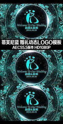 蒂芙尼蓝婚礼视频动态LOGOAE模板