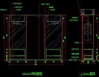 衣柜内部结构图剖面图