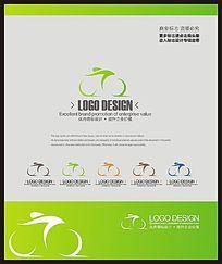 自行车比赛骑行协会创意标志设计
