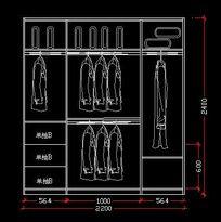2.2*2.4米衣柜内部结构设计图