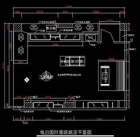 服装店平面图