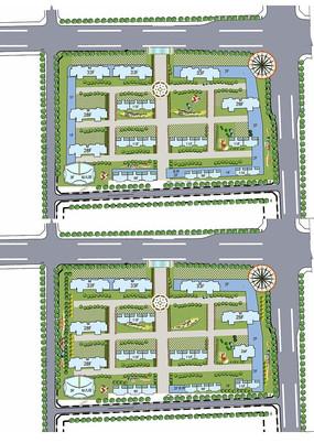 城市规划平面