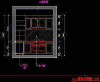 样板间厨房橱柜吊柜设计立面图