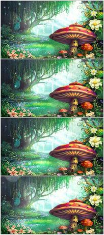 梦幻蘑菇led舞台背景视频