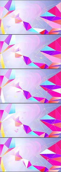 三角线条空间舞台led视频