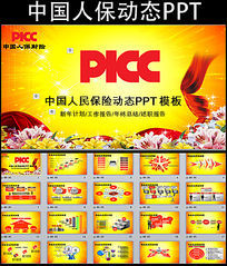 PICC中国人民保险公司PPT模板