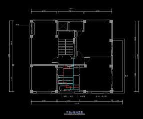 简欧别墅三楼水路布置图