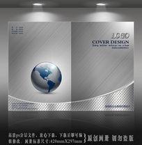 银色地球科技封面设计