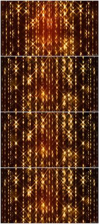 浪漫金色帘幕LED大屏幕视频素材