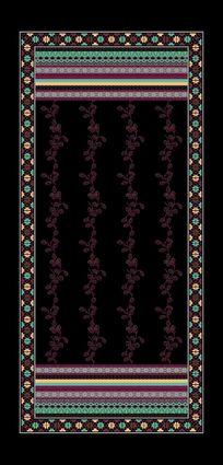 面料印花素材羊毛围巾花型
