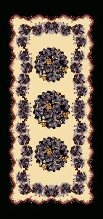 穆斯林风格羊毛围巾印花素材