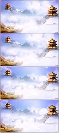 云雾人间仙境LED背景视频