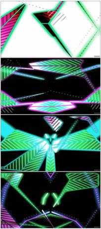 舞台灯光秀背景LED视频素材