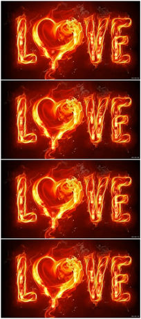 火焰love婚庆视频素材