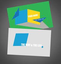 单色个性商业服务设计名片