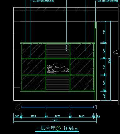 高端肥牛火锅店一层大厅造型设计祥图