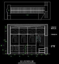 古罗马风格别墅走入式衣柜内部结构图