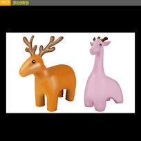 卡通动物图案素材动物插图