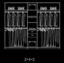 2+4+2衣柜内部设计图