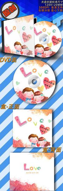 可爱的love光盘封面设计