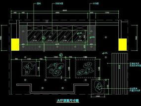 中式火锅店大厅顶面尺寸图