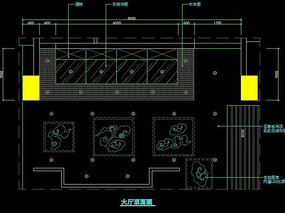 中式火锅店大厅顶面图