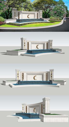 欧式水景模型