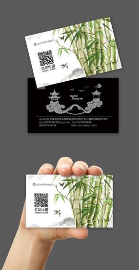 中国风茶艺名片设计