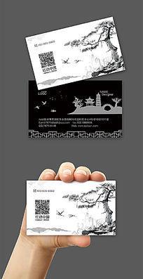 中国风水墨名片背景