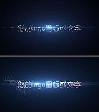 科技之光粒子logo文字AE模板