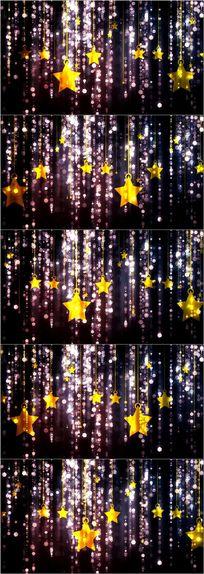 卡通星星粒子光斑浪漫舞台led背景
