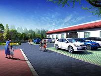 停车位景观绿化psd素材