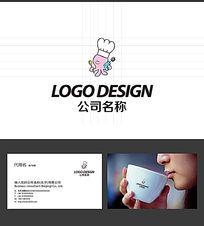八爪鱼餐饮厨师LOGO标志设计