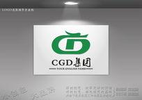创意CD字母组合龙形标志