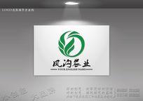 绿色凤凰环保标志设计
