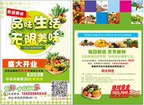 果蔬厨房宣传单设计