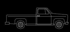 带斗汽车CAD立面图块