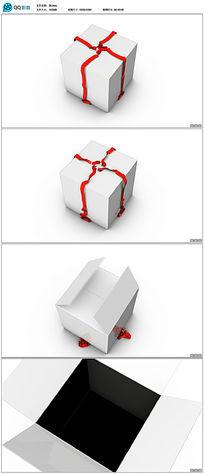 礼盒打开视频素材(带透明通道)