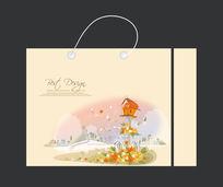 花朵图案手提袋