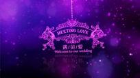浪漫唯美婚礼舞台背景视频素材