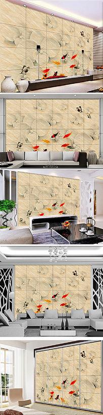 欧式风格唯美简约石材电视沙发背景墙