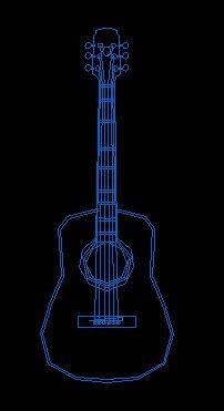 音乐器具CAD设计图块