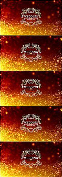 金色粒子婚礼logo欧式花纹led舞台