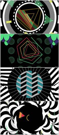 酒吧夜场舞厅动感线条LED背景视频